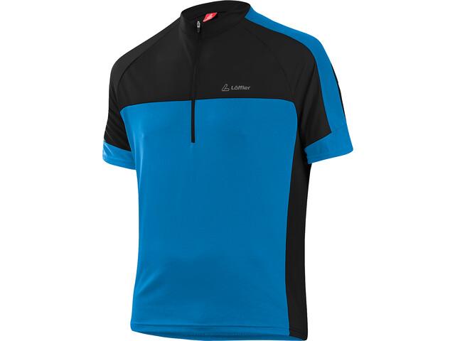 Löffler Pace Fietsshirt Halve Rits Heren, brillant blue